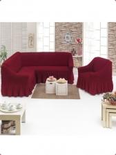 Чехол на угловой диван +1 кресло