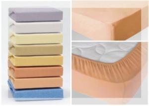 Простынь на резинке трикотажная в детскую кровать
